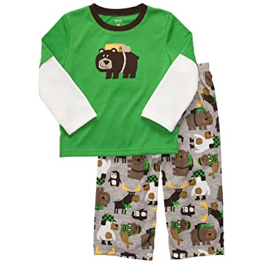 bf6a8d364 Image Unavailable. Image not available for. Color: Toddler 2 Piece Poly PJ  Set - Camping Bear