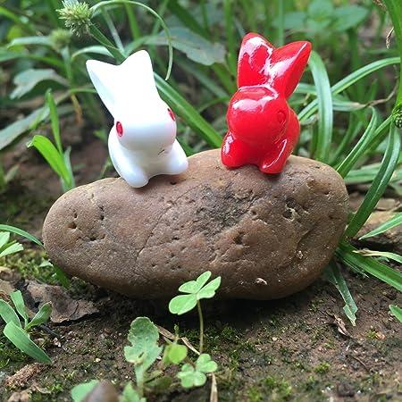 Juego de 10 figuras en miniatura de animales de bosque de hada para jardín, mini bosque de polirpiedra, decoración de mesa para baby shower (robo): Amazon.es: Hogar
