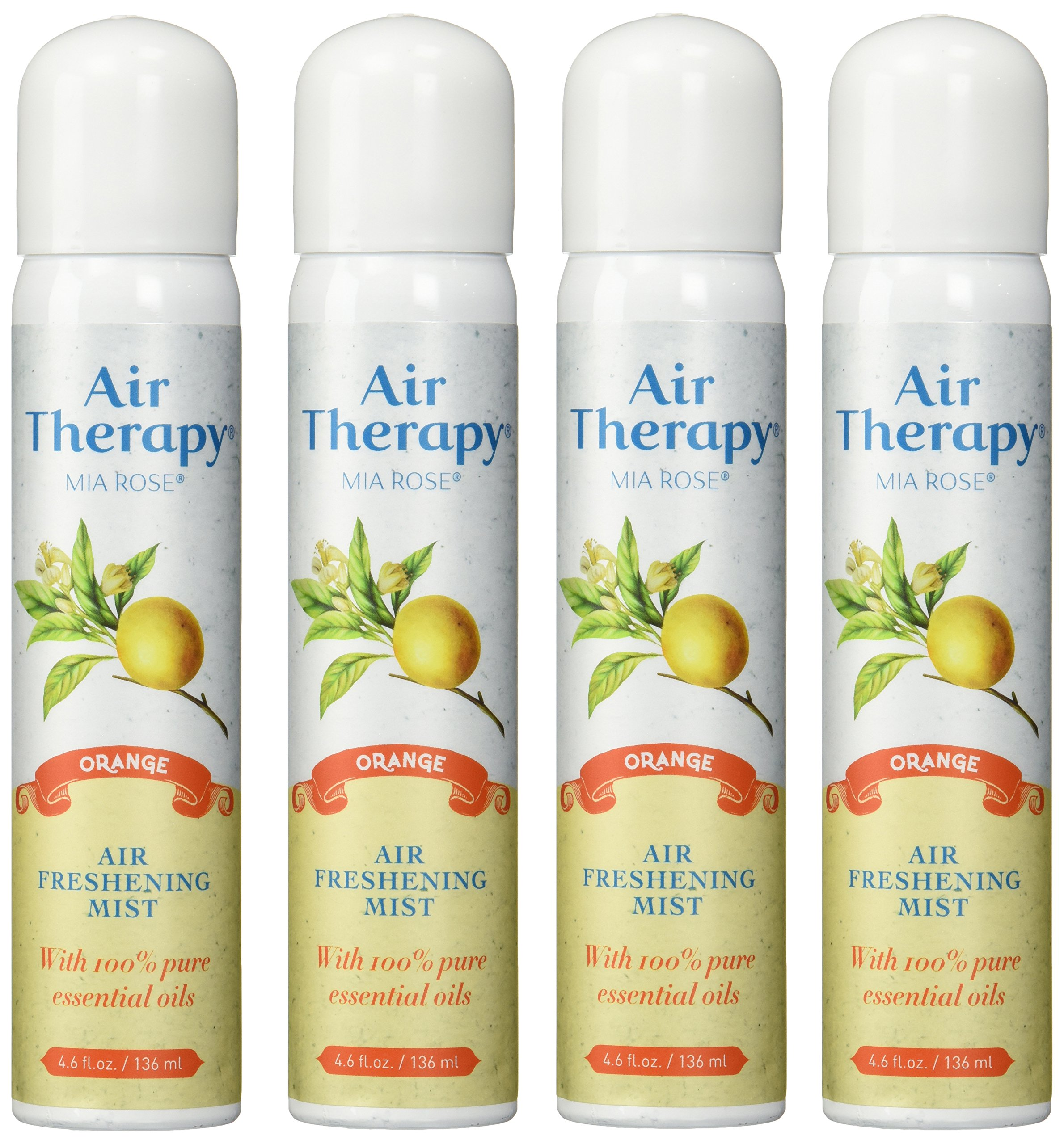Air Therapy Natural Purifying Mist, Original Orange, 4.6 Ounces (Pack of 4)