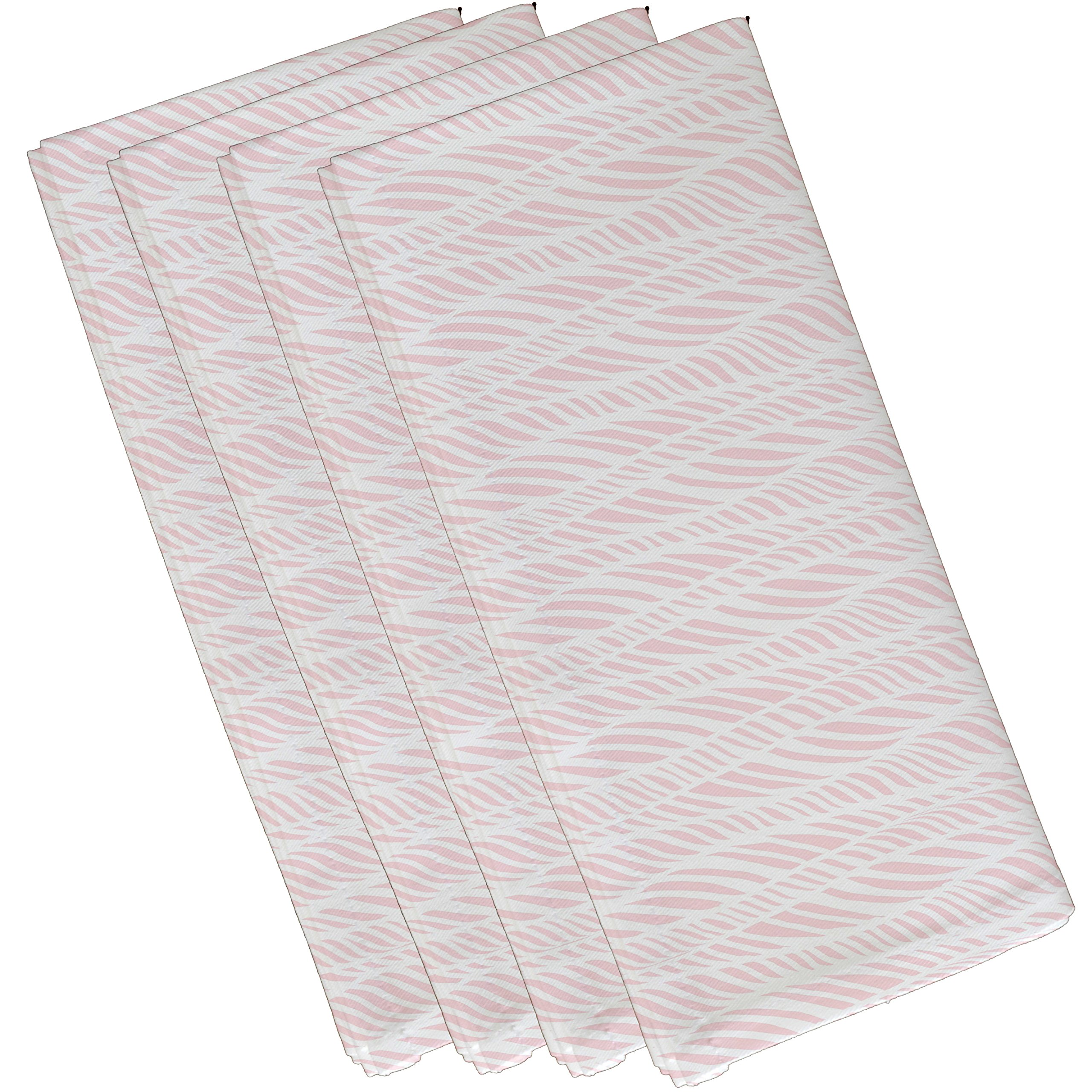E by design N4G769PK6 Rolling Waves Geometric Print Napkin (Set of 4), 19'' x 19'', Pink by E by design