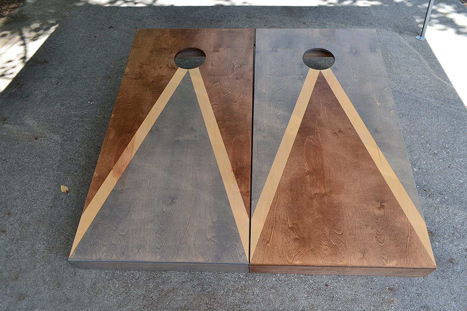 Custom Stained Cornhole Boards Set with Bags