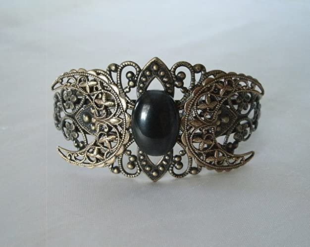 handmade jewelry wiccan pagan wicca witch witchcraft Triple Goddess Cuff Bracelet