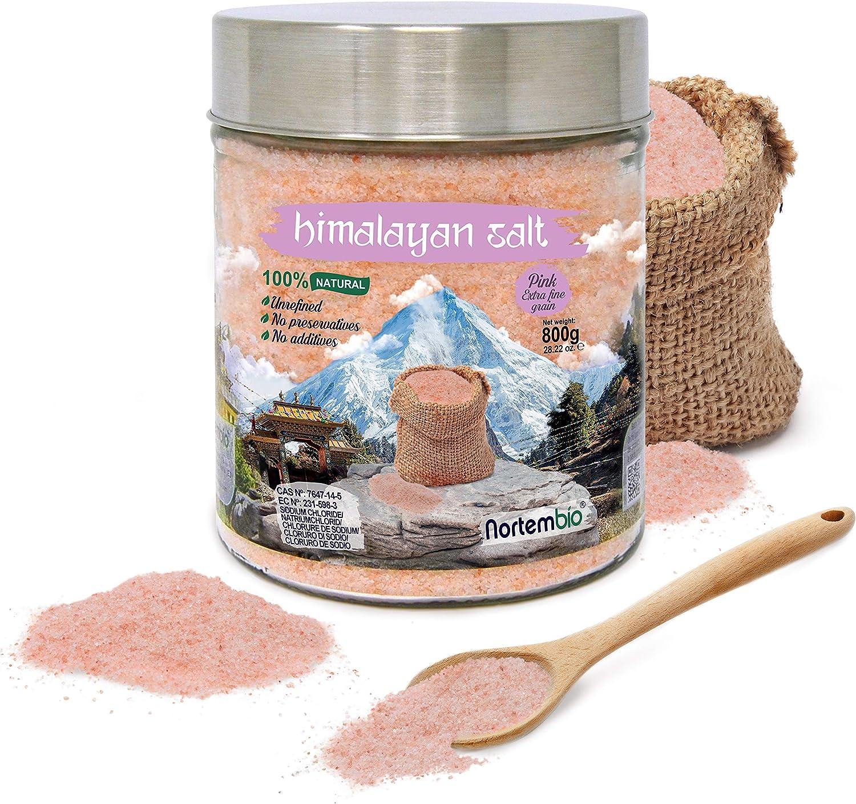 Nortembio Sal Rosa del Himalaya Extrafina sin refinar 800 gr.