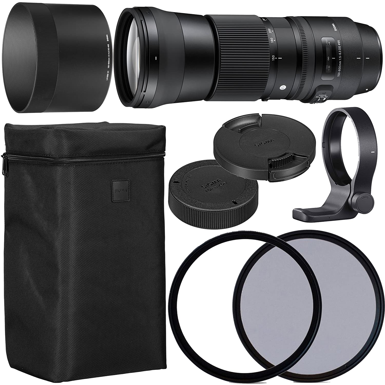 Sigma 150 – 600 mm F / 5 – 6.3 DG OS HSM Contemporaryレンズfor Canon EF with 95 mm 95 mmのUV偏光ファイラー+ケース+襟C - PL AOMスターターキット – インターナショナルバージョン   B07DRN5CQH