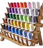 Simthreads 40 Couleurs Polyester broder pour Brother Machine, 1000 mètres / bobine
