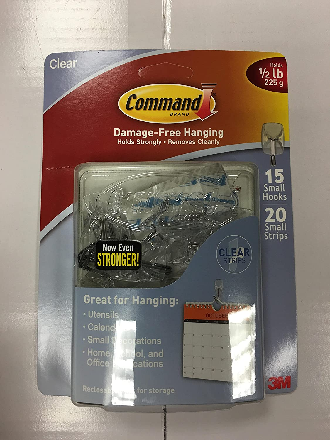 3M Command Small Hooks 15 Pk Clear