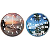 HydroTools by Swimline Poolside Wall Clock and Thermometer Combo Set