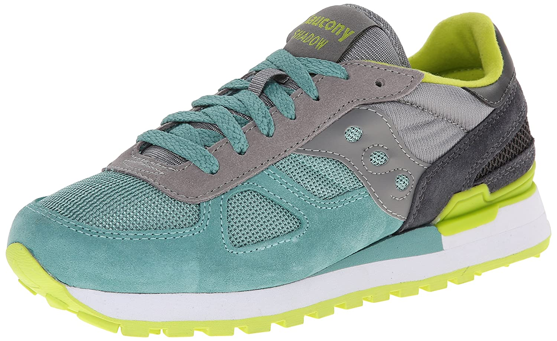 Grey   Aqua Green Saucony Women's Shadow Original Low-Top Sneakers