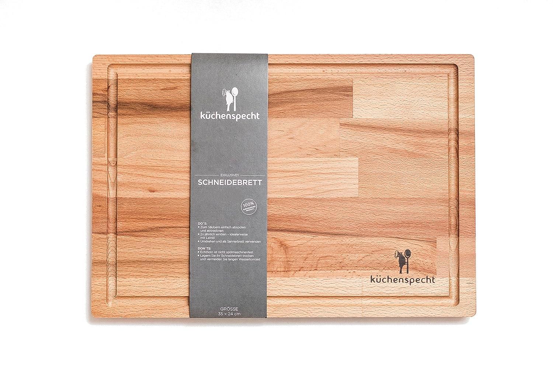 Schneidebrett Holz Gross Schwebe Effekt 35x24x1 7cm Mit