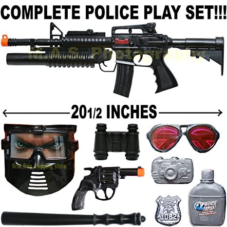 Amazon Com Swat Force Police Complete Toy Friction Gun Combo Set W