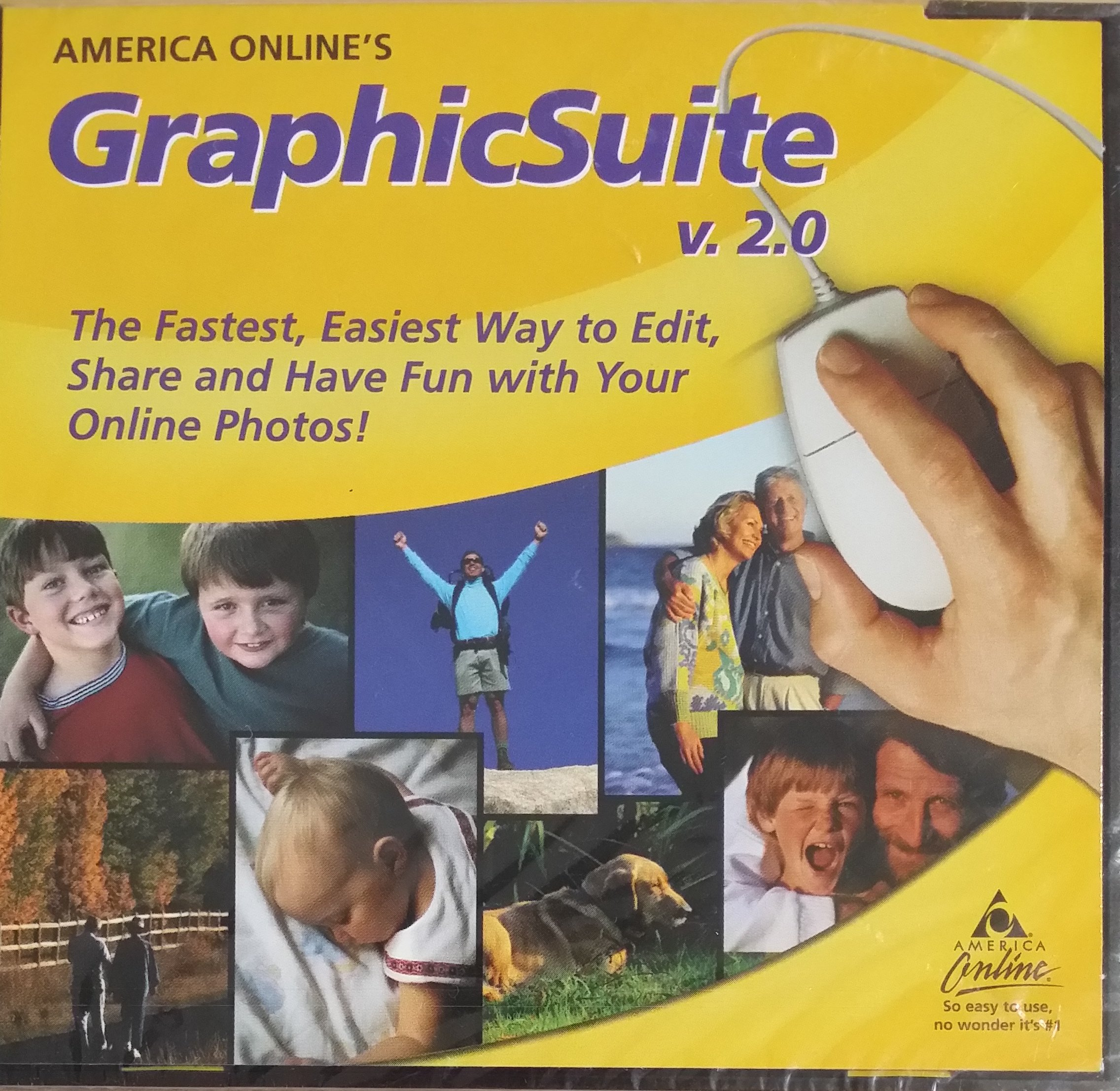 Read Online America Online's GraphicSuite v.2.0: The Fastest Easiest Way to Edit, Share and Have Fun with Your Online Photos (CD-ROM Software Includes: Photo Suite III Family Edition / InstaBase LE, Now This Is Art / Panorama Maker 2000 / PaperPort, Rip Tide) PDF