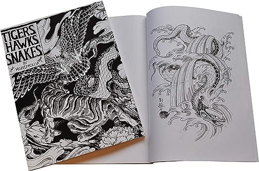 Tigers, Hawks, libro de serpiente tatuaje Flash - of the Horimouja ...