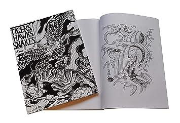 Tigres Faucons Serpents Tatouage Horimouja Flash Book Style