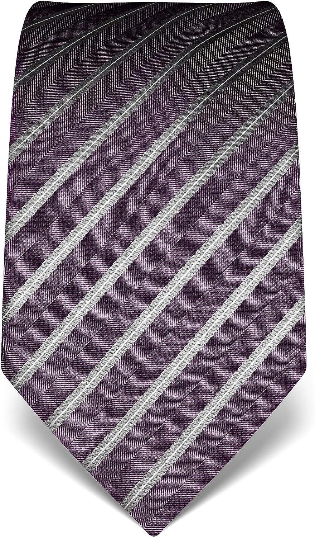 anti-t/âches pure soie /à rayures hydrofuge accessoire /élegant pour la chemise et costume Vincenzo Boretti Cravate homme anti-salissures haute densit/é de tissage longue