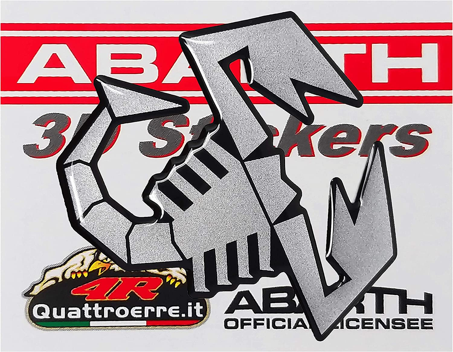 65 mm 3D Sticker Scorpion Matt Silver