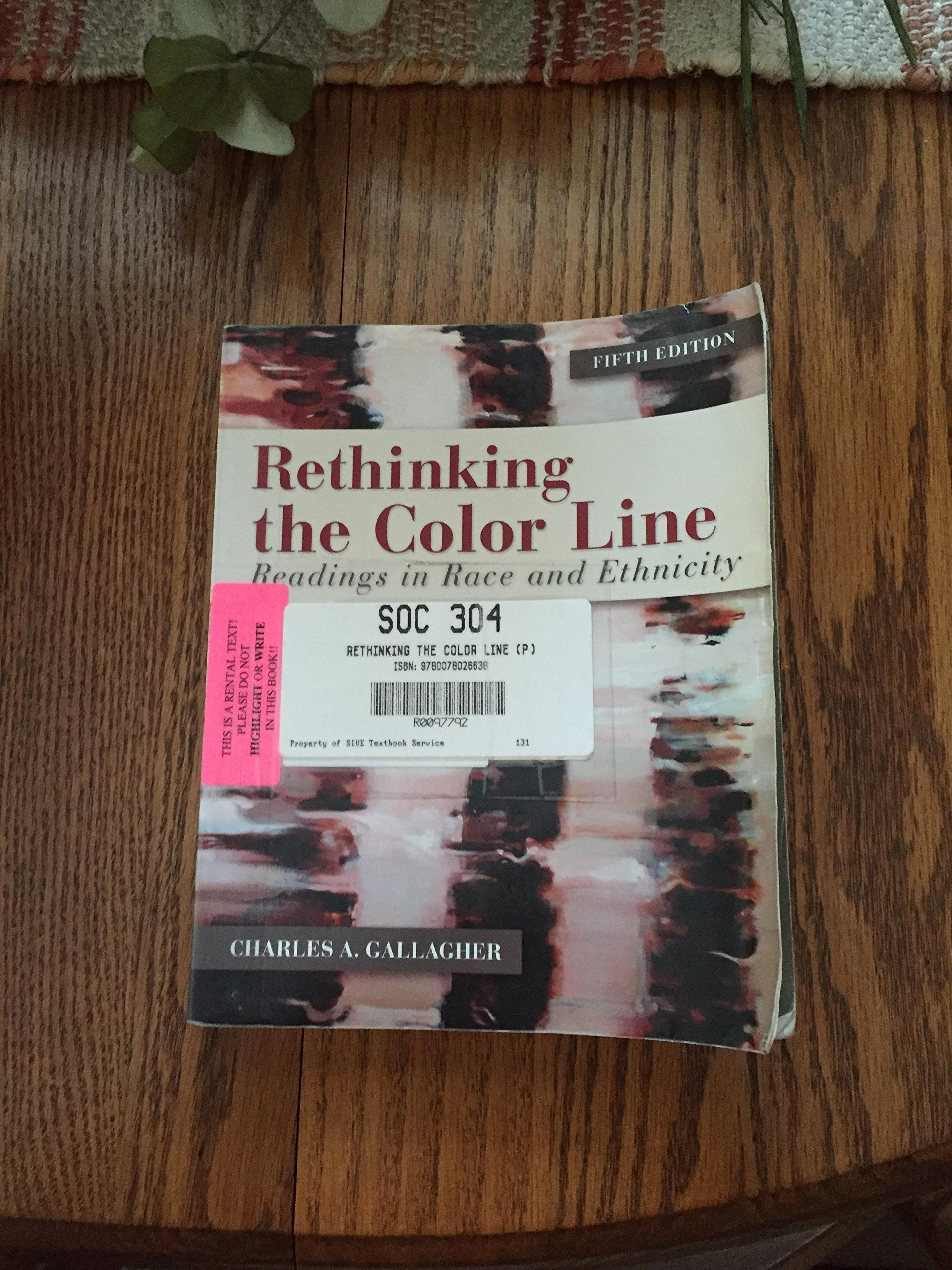 Download Rethinking the Color Line: Readings in Race and Ethnicity 5th (fifth) Edition by Gallagher, Charles A. [2011] pdf