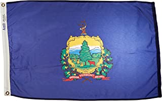 product image for Annin Flagmakers Model 145450 Vermont Flag Nylon SolarGuard NYL-Glo, 2x3 ft, 100% Made in USA to Official State Design Specifications