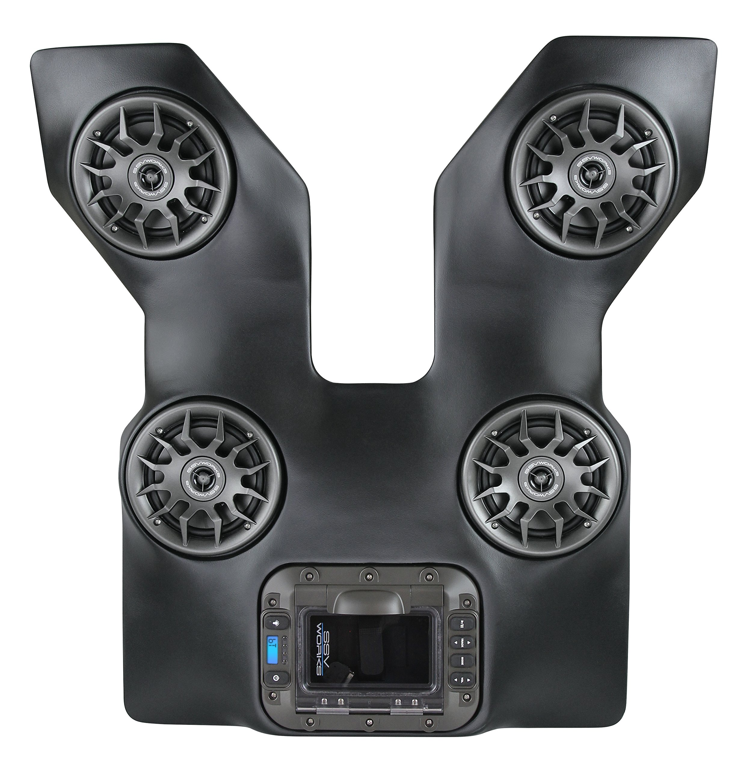 SSV Works WP-WC2O4 Arctic Cat Wildcat Trail and Sport BLUETOOTH 4 Speaker Overhead Stereo System