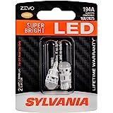SYLVANIA ZEVO 194 T10 W5W Amber LED Bulb, (Contains 2 bulbs)