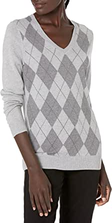 Amazon Essentials Suéter Ligero de Manga Larga con Cuello en V y Ajuste clásico Mujer