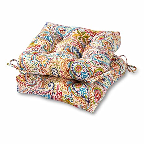 Greendale Home Fashions 20 Inch Outdoor Chair Cushion In Painted Paisley Set Of 2 Jamboree