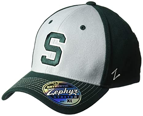 buy popular 198a1 f7c15 Image Unavailable. Image not available for. Color  ZHATS NCAA Michigan  State Spartans Men s Stitch Hat ...