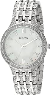 8d9479297 Amazon.com: Bulova Women's Quartz Stainless Steel Dress Watch, Color ...