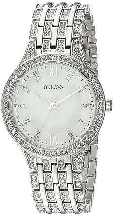 Amazon.com  Bulova Women s 96L242 Swarovski Crystal Stainless Steel ... 7391611b9c