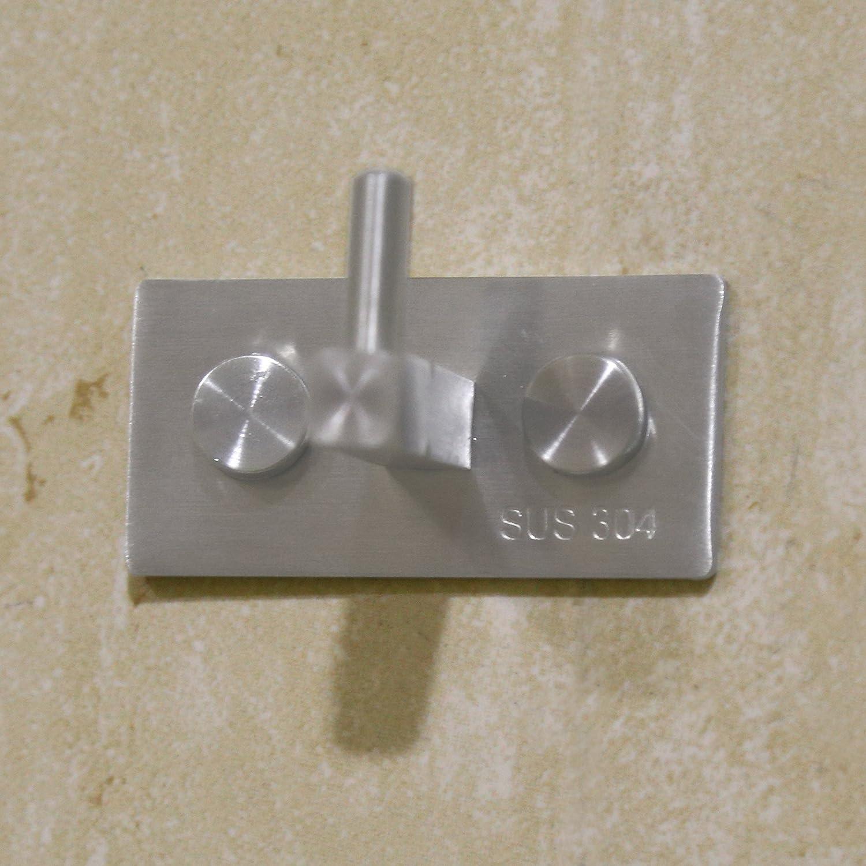 Hallway Home Office Storage /& Organization Brushed Finish Entryway for Bedroom Foyer L-CF01-5 Single Square Hook Bathroom WEBI Heavy Duty SUS 304 Coat Bath Towel Hanger Rail Bar