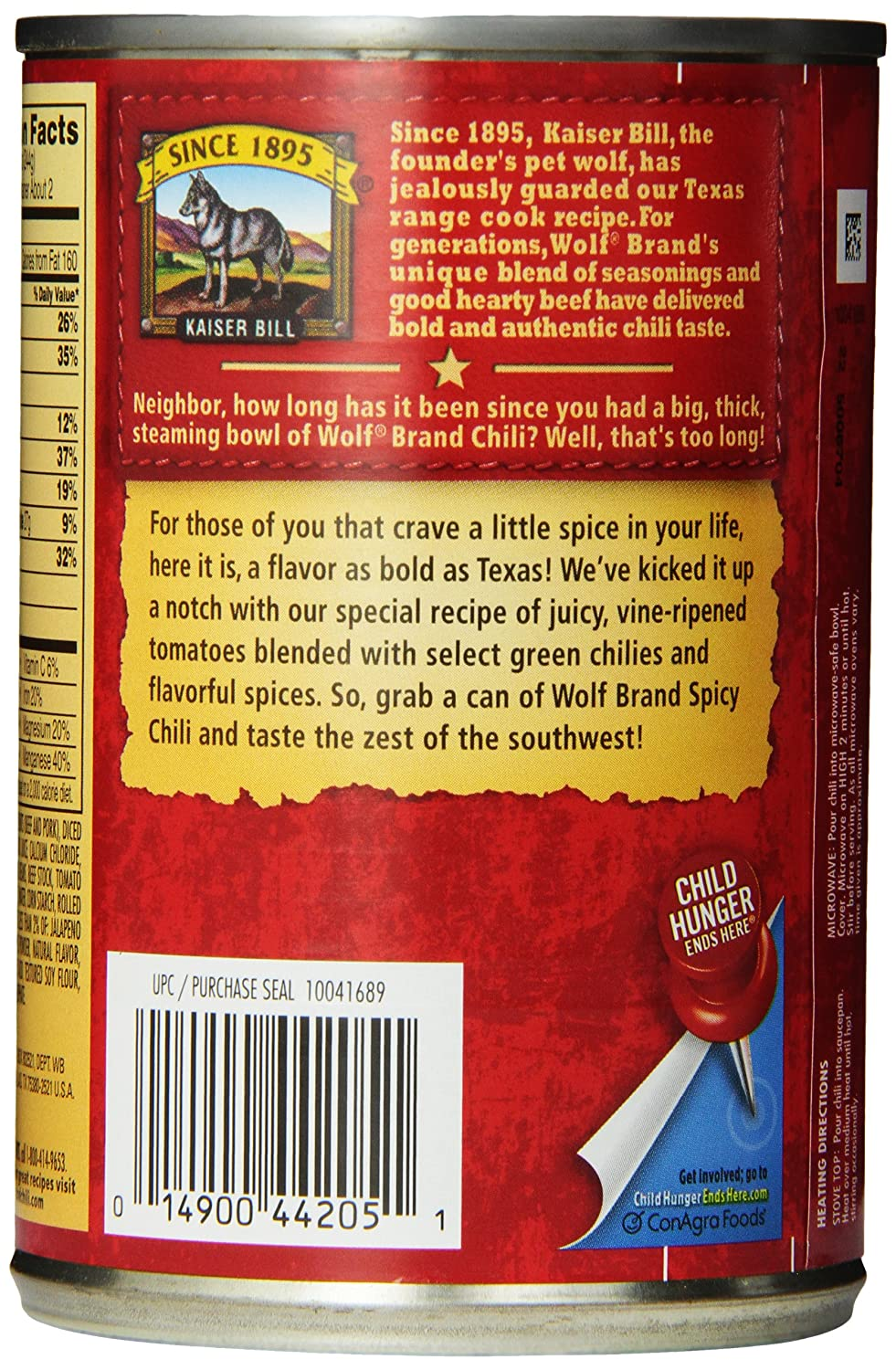 Red color code wolf online - Amazon Com Wolf Brand Chili Spicy With Beans 15 Ounce Pack Of 12 Packaged Chili Soups Grocery Gourmet Food