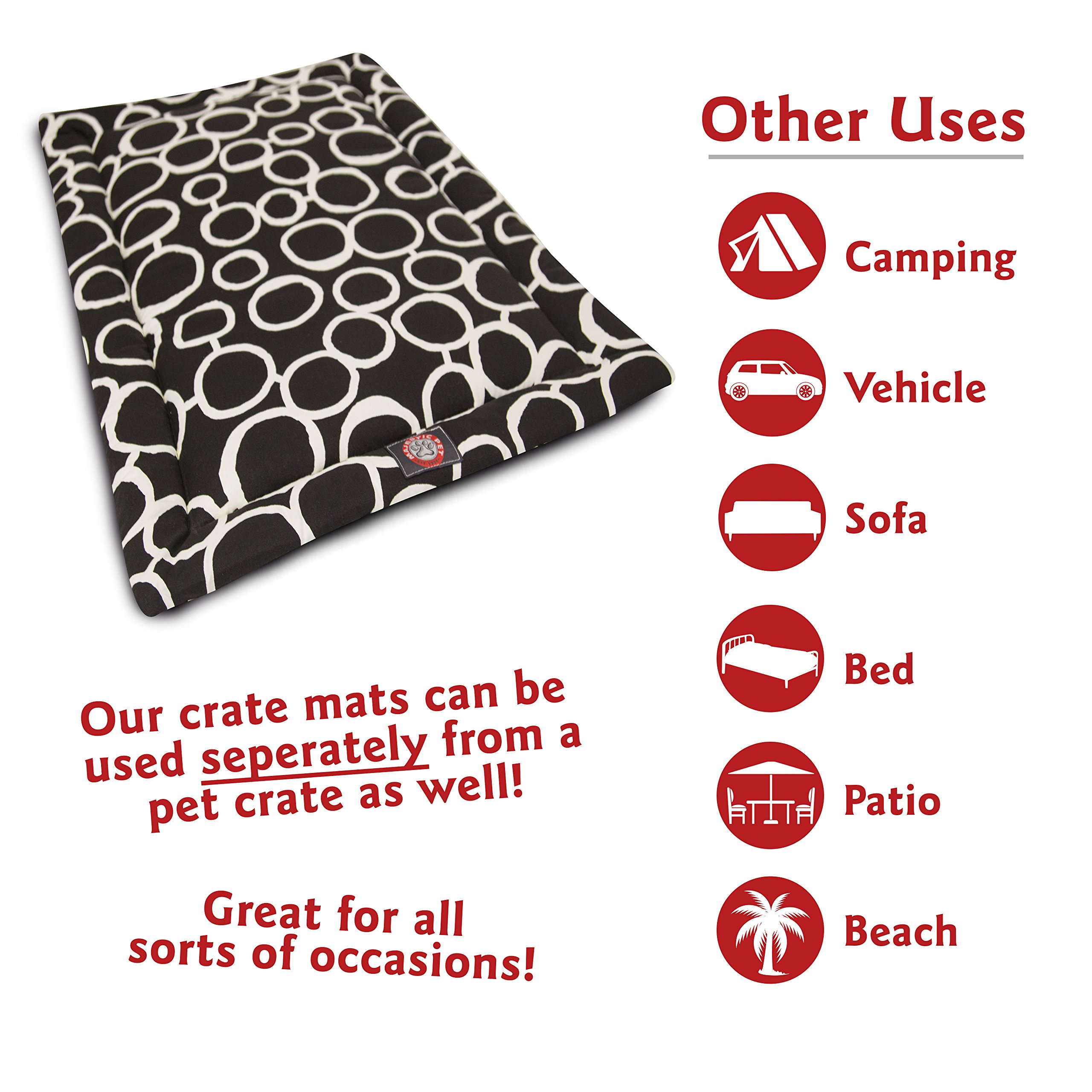Majestic Pet 42'' Fusion Black Crate Dog Bed Mat Products by Majestic Pet (Image #8)