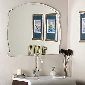 Decor Wonderland Frameless Wide Wall Mirror