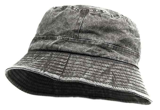 FashionTS Men s Short Brim Cotton Bucket Hat For Summer (Black) at ... 903d1e49898