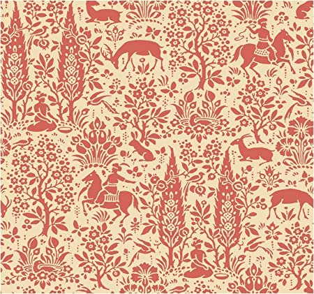 York Wallcoverings Ap7449smp Silhouettes Woodland Tapestry Toile Wallpaper Memo Sample 8 Inch X 10 Inch