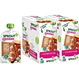 Sprout Organic Baby Food Pouches Stage 2 Sprout Baby Food, Sweet Potato White Bean with Cinnamon, 4 Ounce (Pack of 10); USDA Organic, Non-GMO, Made with Whole Foods, No Preservatives