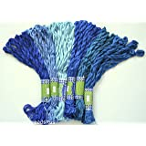 New ThreadNanny 60 Skeins of Silky Hand Embroidery Cross Stitch Floss Threads - BLUE TONES