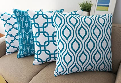 Amazon.com  Howarmer Canvas Cotton Throw Pillows Cover for Couch Set ... 1de26f5b2