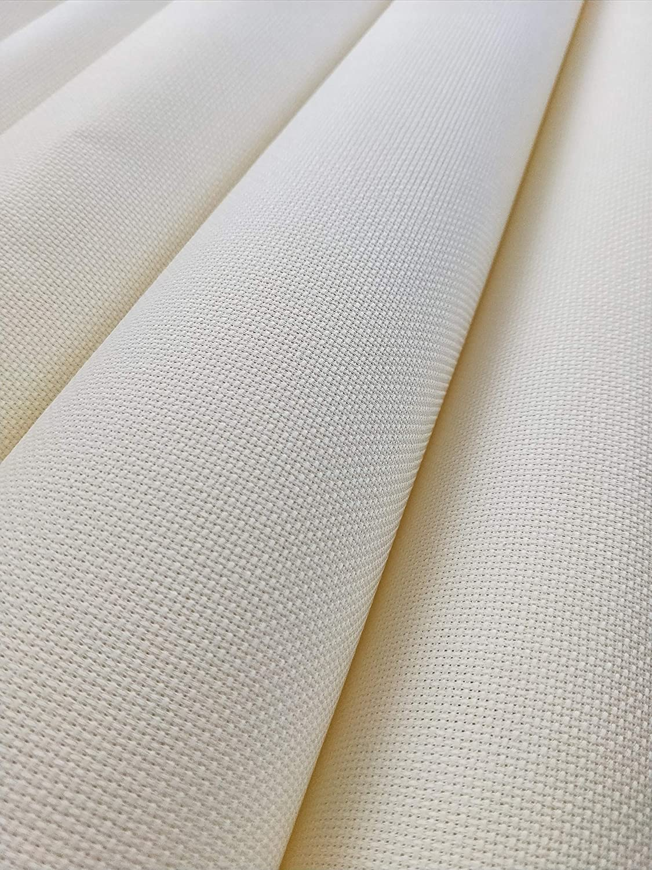 19 x 28 14CT Counted Cotton Aida Cloth Cross Stitch Fabric Beige