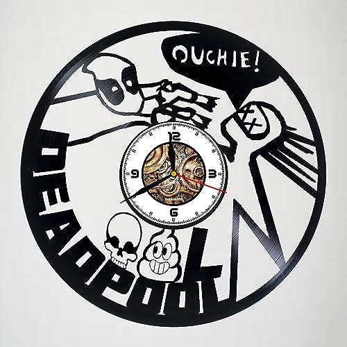 Amazon Com Deadpool Movie Vinyl Wall Clock Handmade Gift For