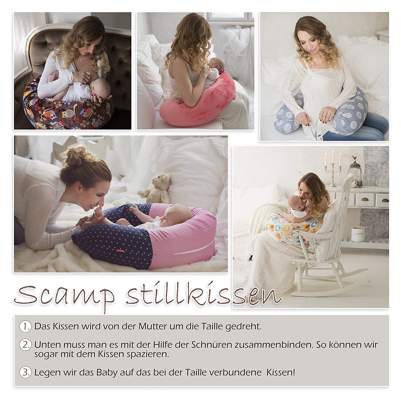 SONDERANGEBOT 31,9 EUR STATT 35,9 Giraffe Bezug verschiedenes Design NEU SCAMP Stillkissen Schwangerschaftskissen inkl