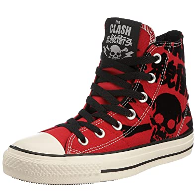 48aa536ebe43 Converse Unisex Chuck Taylor The Clash AS Skull G Dyed HI Lace-Up Varsity  Red 114000 3 UK  Amazon.co.uk  Shoes   Bags
