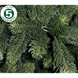 Best Artificial Premium 6ft / 180cm Real Feel Hinged Christmas Tree with Over 1100 FULL PE Tips for Indoor Xmas with 5 YEAR GUARANTEE