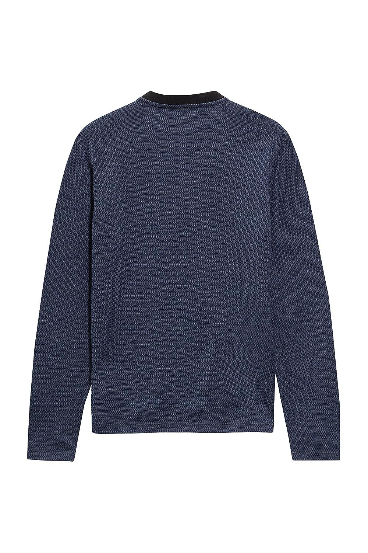 next Hombre Jersey Camisa Polo Cuello MAO Manga Larga De Algodón ...