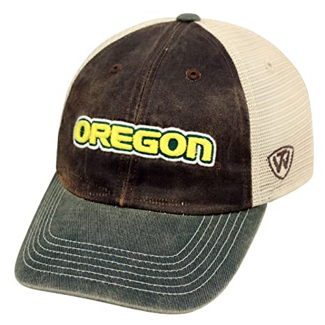 sale retailer b044b 18aee Image Unavailable. Image not available for. Color  Trailway Adjustable  University of Oregon Ducks Trucker Hat