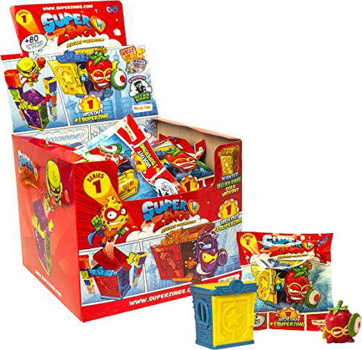 SuperZings - Serie 1 - Rivals of Kaboom: Caja con 24 sobres de 1 Hideout + 1 SuperZing (PSZ1D824IN06): Amazon.es: Juguetes y juegos