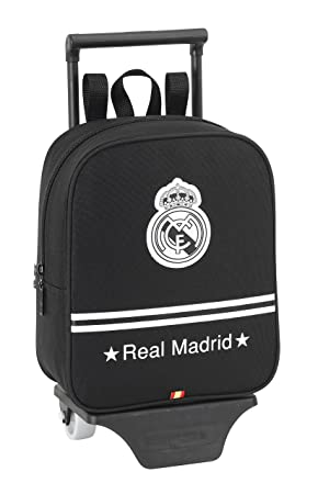 Real Madrid - Mochila guardería Carro, 22 x 27 cm, Color Negro (SAFTA 611524280): Amazon.es: Equipaje