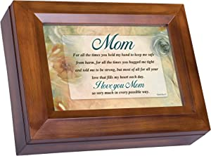 Cottage Garden Mom I Love You Woodgrain Digital Keepsake Music Box Plays I Can Only Imagine