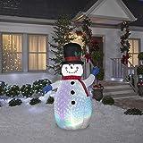 Gemmy Projection Color Flash Snowman 6.5 Foot LED