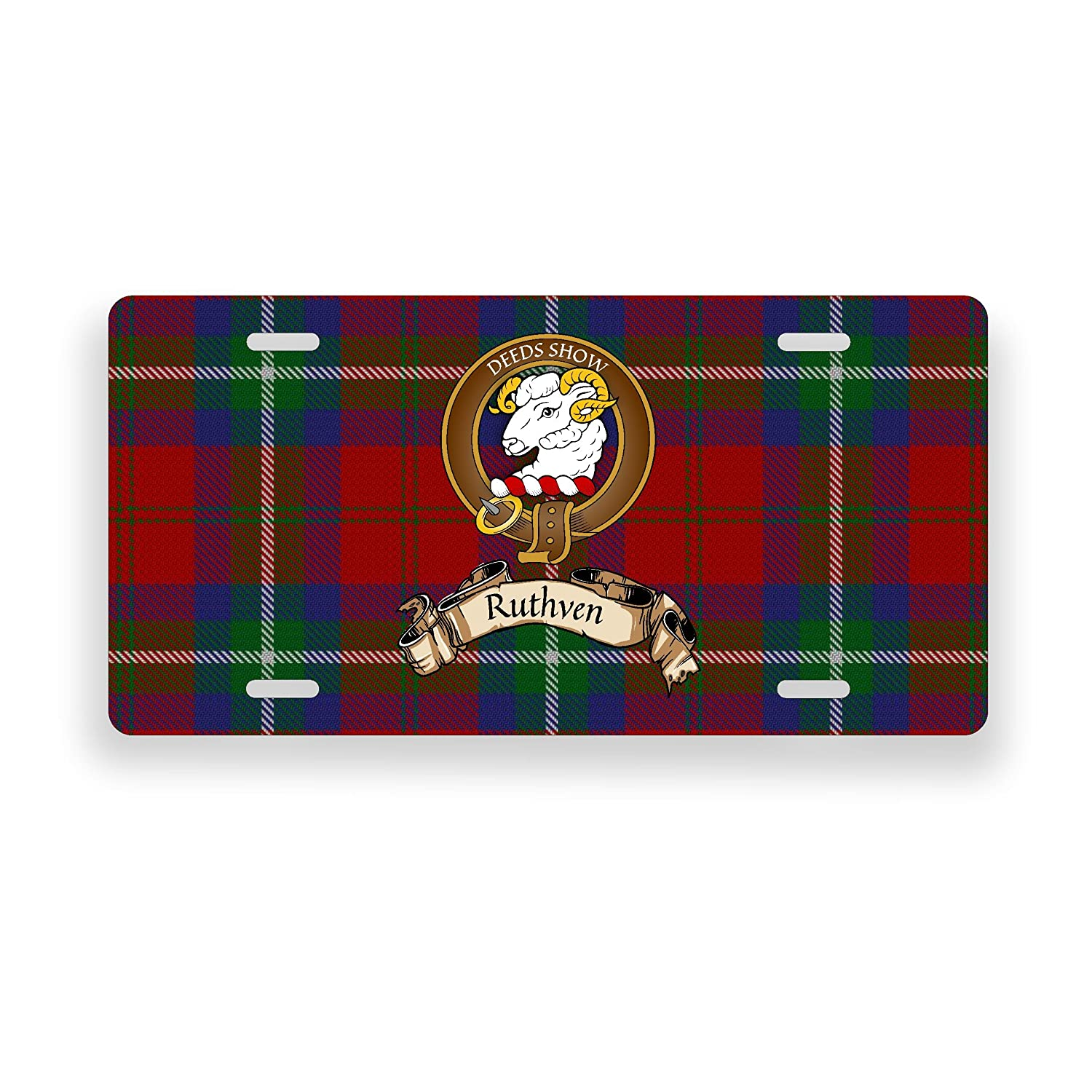 Ruthven Scottish Clan Tartan Novelty Auto Plate