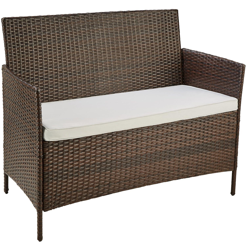 TecTake Muebles de Jardín en Poly Ratan | Conjunto 1 Mesa de Café, 1 ...